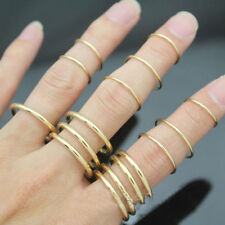 16x/Set New  Punk Stackable Plain Band Above Knuckle Midi Finger Ring G$CA