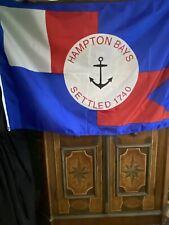 New listing Hampton Bays Li,New York Quality Nylon Flag Brass Grommets Indoor/ Outdoor 3'x5'