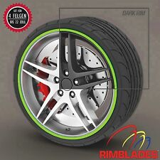 Rimblades FELGENSCHUTZ Styling LIME GRÜN Felgenringe Felgenschutz Wheel Protect
