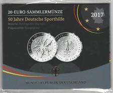 Deutschland 20€  Euro 2017 D Sammler/Silbermünze PP 50 Jahre Deutsche Sporthilfe