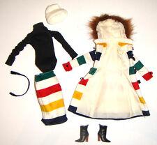 Barbie Fashion Stripes Coat/Skirt For Model Muse Barbie Doll hb02