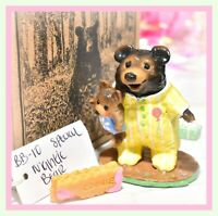 ❤️Wee Forest Folk BB-10 Nightie Bear Black Birthday Balloon SPECIAL FairyTales❤️