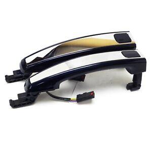 2013-14 Cruze Lacrosse Verano SRX New OEM Front Door Handle Blue Metallic/Chrome