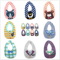 Double-sided Cotton Four-layer Baby Bib Snap Button Adjustable Feeding Neck Bibs