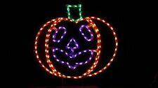 Pro Halloween Carved Pumpkin Outdoor LED Lighted Decoration Steel Wireframe