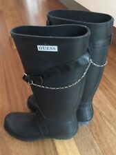 Guess Wellington Boots, Size 38 EUR, Hardly Worn - Black