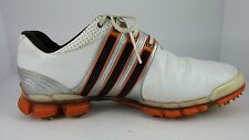 Adidas Tour 360 ATV Mens Golf Shoes 672514  White/Orange Sz 9.5