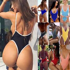 Sexy Women's One-piece Swimsuit Beachwear Swimwear Thong Monokini Bikini Bathing