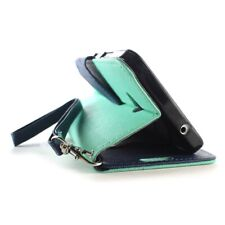 CoverON® for Microsoft Lumia 640 Wallet Case Teal & Navy Credit Card Folio Cover