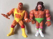 WWF HASBRO HULK HOGAN & ULTIMATE WARRIOR Loose Used WWE Wrestling Figures