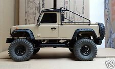 313 mm 1/10 Defender D90 Pick Up Truck Body + Metal Roll Cage + Safari Snorkel