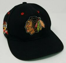 Vintage Chicago Blackhawks Champions Annco Snapback Hat Professional Model