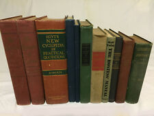 Lot of 11 VINTAGE BOOKS - informational, educational, instructional 1940 - 1954