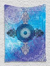 Ambesonne Asian Mandala Blue Purple Tapestry New
