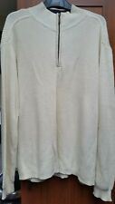 Mens  Zipped Neck Long Sleeve 100% Cotton Haggar Jumper in size - Large