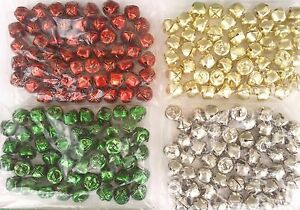 """JINGLE BELLS Christmas Crafts Red Gold Green Silver 1/2"""" 9/16"""" 3/4"""" SELECT: Bell"""