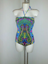 Versace Woman  Swimsuits Blue Barocco size 3