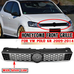 For Volkswagen VW Polo 6R 2009-14 Honeycomb Front Bumper Grille Mesh GTI