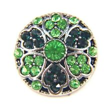 Noosa Style Chunks Snap Button Charms Ginger Snaps Charm Green Gems 20mm
