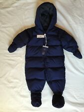 Baby Gap 0-6 Months Boys Down Fleece Lined Navy Bunting New With Tags