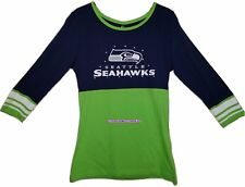 NFL Seattle Seahawks For Her Roster Rush Colorblocked 2-Tier Tee - Medium