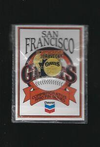 """1990 Chevron Dave Dravecky """"Giants Miracle"""" San Francisco Giants Lapel-Hat Pin"""
