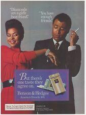 Original 1985 Benson & Hedges 100's Diamonds, Friends Cigarette Vintage Print Ad