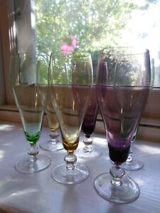 Vintage coloured drinking glasses, Coloured glasses from the sixties