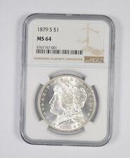 MS64 GRADED - 1879-S Morgan Silver Dollar- NGC *655