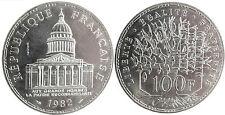 ESSAI  ,  100  FRANCS  PANTHEON  ARGENT  1982  ,  SUPERBE  À  FLEUR  DE  COIN