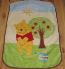 DISNEY WINNIE THE POOH LUXE PLUSH BABY BLANKET APPLE TREE SUN HUNNY HONEY POT