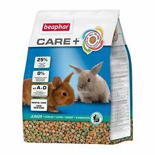 Beaphar Care Plus + Junior Rabbit Food Feed Complete Diet 1.5Kg Omega & Fibre