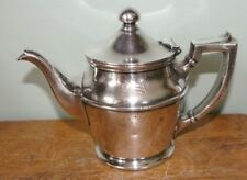 Antique 10 oz American Mail Line Steamship silver plated teapot
