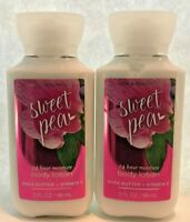 *New* 2-Pack ~ SWEET PEA ~TRAVEL BODY LOTION~ Bath & Body Works~SHIPS FREE