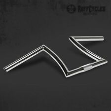 RUFF RON BARS MEDIUM CHROME PLATED HANDLEBARS 7/8 MOUNT CHOPPER BICYCLE RAT ROD