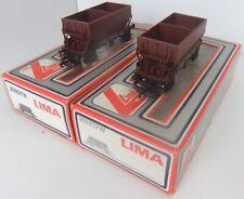 LIMA MODELS 305637W LWB brown Hopper Wagons x 2 (Boxed)