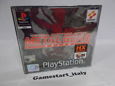 Metal Gear Solid Konami Sony Playstation Ps1 PAL ITA