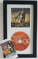 GEORGE JONES CD DISPLAY JSA CERTIFIED COA SIGNED MUSIC AUTOGRAPHED COUNTRY ALBUM