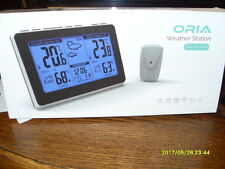 Oria Weather Station, Wireless Digital Thermometer with Indoor Outdoor Alerts