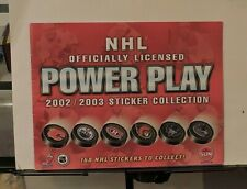 TORONTO SUN NHL POWER PLAY COMPLETE STICKER COLLECTION SET WITH ALBUM 2002-03