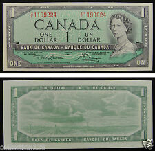 Canada Banknote One Dollar 1954 UNC, See Signature