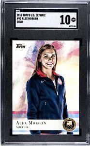 2012 Topps  ALEX MORGAN USA Olympics GOLD MEDAL Soccer #90 SGC GEM MINT 10!🔥