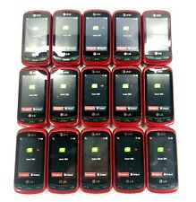 Lot of 15 - LG Xpression C395 Red (Unlocked) 3G Qwerty Keyboard Touch Cell Phone