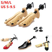 Mens Womens Wooden Adjustable 2-Way Shoe Stretcher Expander Shaper Tree US 5-9.5