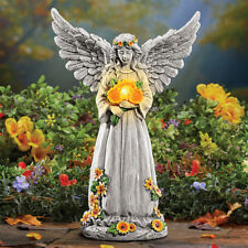 Outdoor Angel Statue Yard Solar Lighted Figure Garden Decor Wings Ornaments Gift