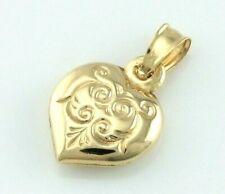 9ct Yellow Gold Heart Charm Pendant