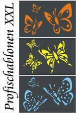 Wandschablone, Kinderschablone, Malerschablonen, Dekor, 3er Set Schmetterlinge