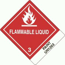 """Flammable liquid-Paint UN1263- Pre-Printed """"4x5"""" (ROLL OF 500)"""