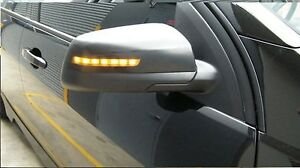 Holden Commodore VE Models Black Finish mirror covers with LED amber blinkers
