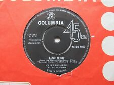 "CLIFF RICHARD Bachelor Boy/The Next Time UK 7"" Small Typeface EX Cond"